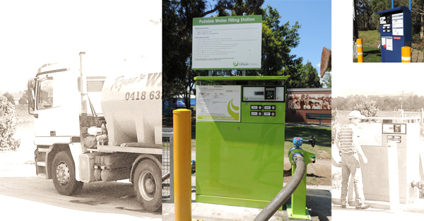 Tanker filling station